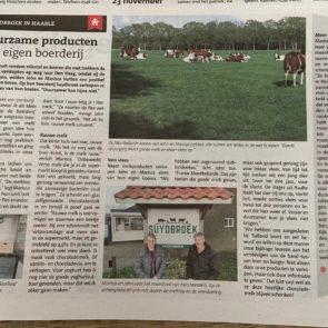 Artikel Twents Volksblad 19-11-19